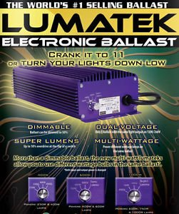 Price comparison product image Advanced Nutrition Lumatek - 600W Electronic Ballast - Dimmable -