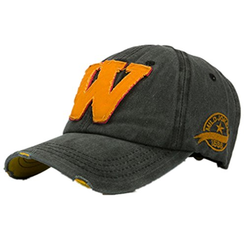 Ularma Moda unisex letra W Hockey béisbol gorras sombreros Hip Hop (Talla única, C)