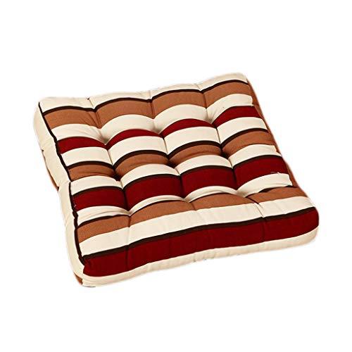 Unbekannt Haushalt Canvas Kissen Perle Baumwolle Komfortable Bürostuhl Sitzkissen Vier Jahreszeiten Erhältlich (Farbe : A, größe : 43 * 43 * 6cm) -