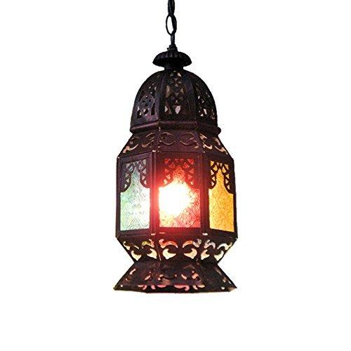 e kreative Persönlichkeits-Retro- Wand-Lampe kreative Südostasien-Gang-Hall-Stab-Ballsaal-Lampen und Laternen-Eisen-hohle Leuchter-hängende dekorative Beleuchtung der Kette,18*34. ()