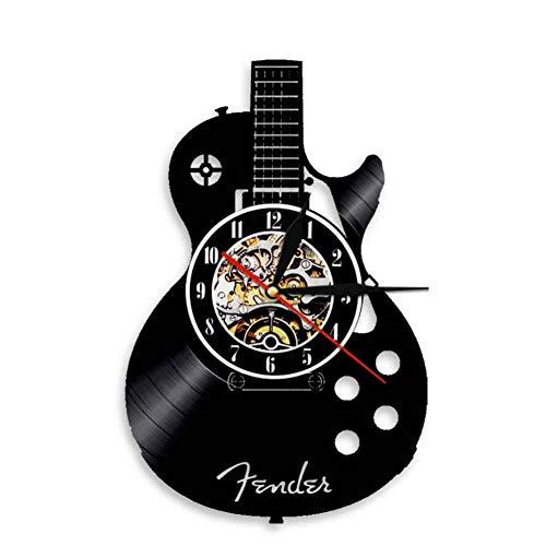 ttymei Guitarra acústica Arte de Pared Reloj de Pared Instrumento ...