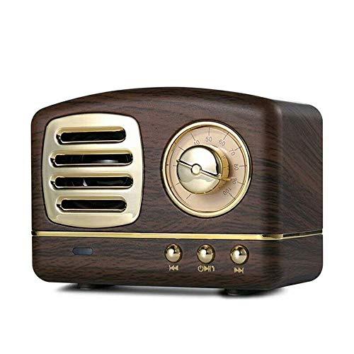 COOLEAD Altavoz portatil Bluetooth Vintage Mini Efecto del Sonido HiFi Envolvente estéreo 3D Bluetooth 4.1+EDR batería de Litio (木纹色)