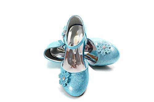ELSA & ANNA® Gute Qualität Neueste Design Mädchen Schuhe Prinzessin Schnee Königin Gelee Partei Schuhe Sandalen (EURO 26 - Insole Length 17.3cm, Blau)