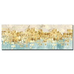 Fajerminart Leinwand Drucke Moderne Bild Wandkunst   Goldene Abstrakte  Malerei Leinwand Gemälde Wandkunst Dekor Geeignet Wohnzimmer