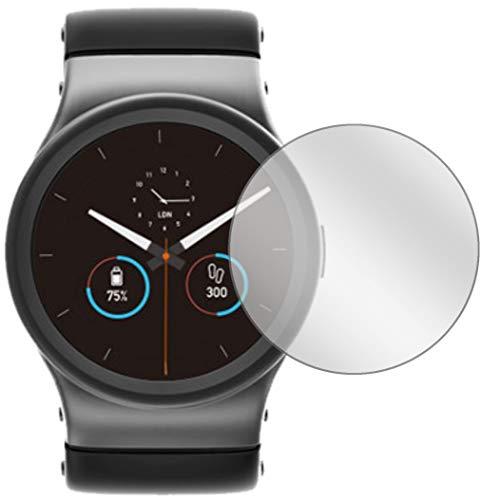 Ecultor I 4X Schutzfolie passend für Uhr 32 mm Durchmesser Displayschutz-Folie Klar