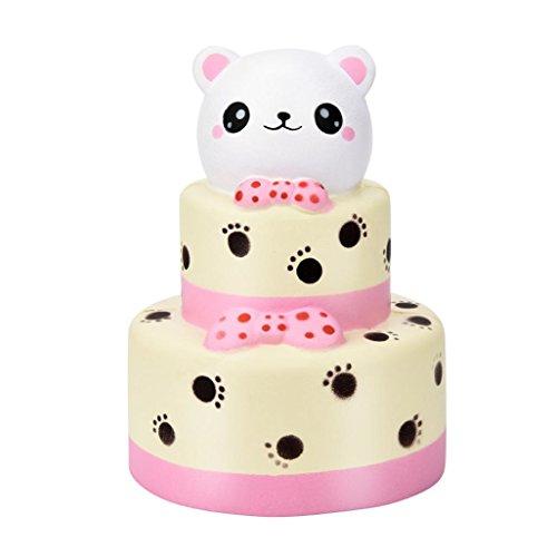 vicgrey 2018 L'ultima torta doppio orso 15CM gigante orso torta torta morbida crema rimbalzo lento squeeze trattamento profumato trattamento antistress regalo