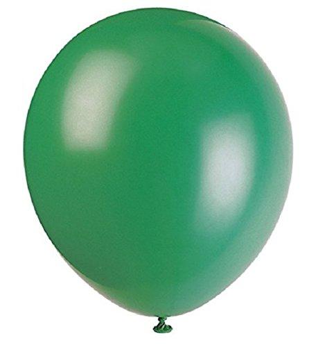 50 Piezas 12 '(30CM) Globos Pearlised Metálico Aire o Helio Boda Cumpleaños Fiesta de Navidad Decoración Disponible en 14 Colores (Pino Verde)