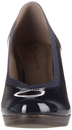 Tamaris Damen 22418 Pumps Blau (navy Patent 826)