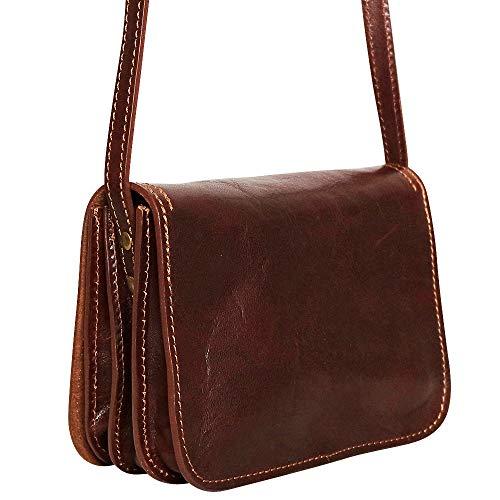 Chapeau-tendance - Sacoche vintage cuir Marron - - Femme e23bae2f575