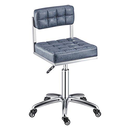 Einstellbare Küche Hocker (Mena Uk Retro Swivel verdicken Kissen Stuhl Computer PU Leder Hocker, einstellbare Höhe, 360-Grad-Drehung, 3 Farben ( Farbe : 2 , größe : 50 cm ))