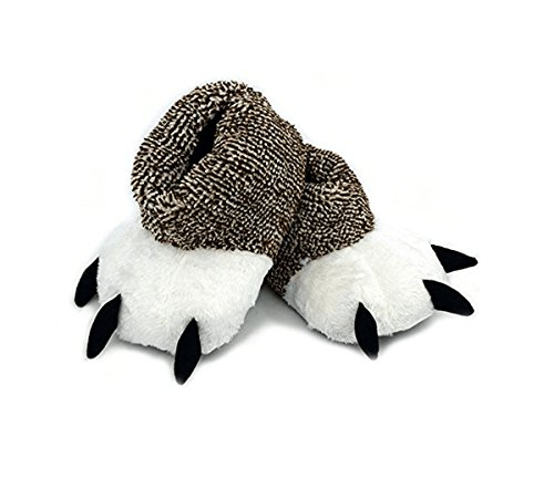 Unisex Soft Plush Home Slippers Bear Claw Slippers Animal Costume Paw Claw Shoes