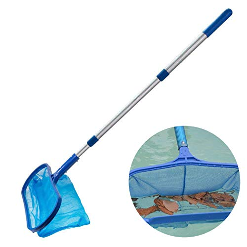 JUSTDOLIFE Pool Net Leaf Skimmer Lightweight Pool Leaf Net Pool Supply with Pole