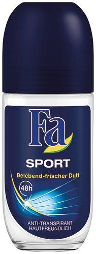 Unbekannt 12x Fa - Men Sport, 48h Anti-Transpirant Deo Roll-on - 50ml