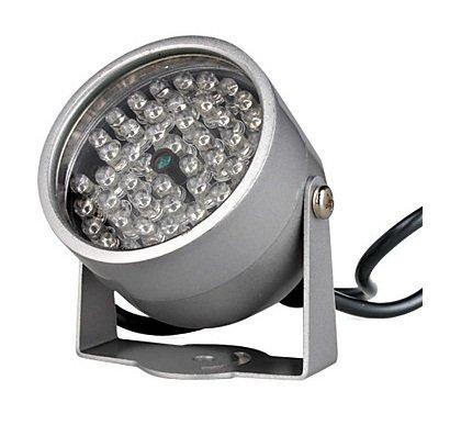 BW Infrarot-Beleuchtungs-Licht mit 48 IR-LEDs für Nachtsicht-CCTV-Kamera - Silber