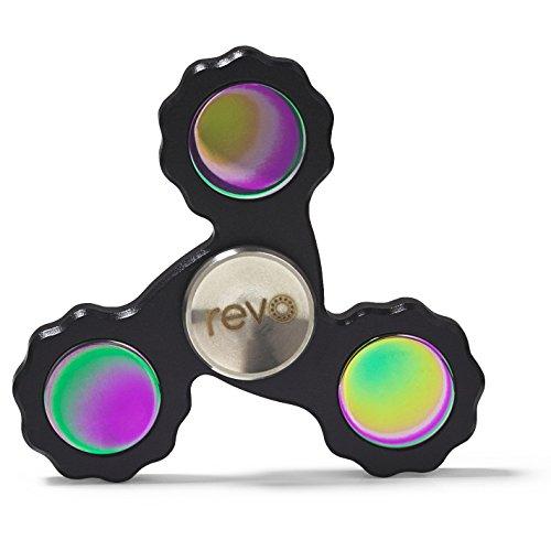 Lega di titanio revo pro nero fidget hand spinner