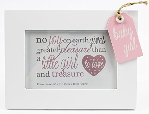 New Baby Girl Photo Frame Tag Style 6 x 4