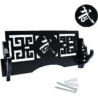 Espada Estándar de soporte–Soporte de pantalla plana Katana Wakizashi espadas samurai de pared de pantalla soporte para pared Bushido 武, 1-Tier