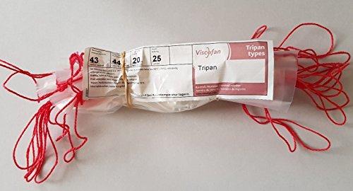 Tripan Kunstdarm Sterildarm - 25 Stück Kaliber 43/20 für Koch- und Brühwurst ungestippt