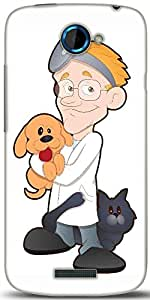 Snoogg Animal Doctor Cartoon Character Designer Protective Back Case Cover For HTC One S