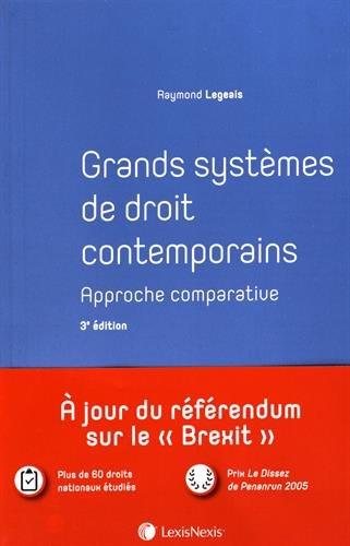 Grands systèmes de droit contemporains: Approche comparative.
