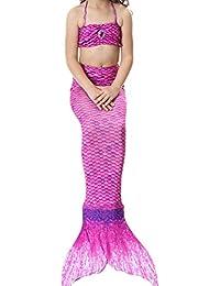 PrettyCos 3PCS Bikini Traje de Bano Sirena Princesa Mermaid swimsuit Disfraz de Sirena Cosplay