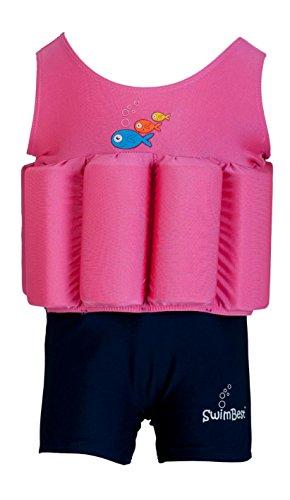Maillot de bain - Avec Flotteurs Ajustables - Rose/Bleu marine - 12-24 mois / jusqu'à 20 kg