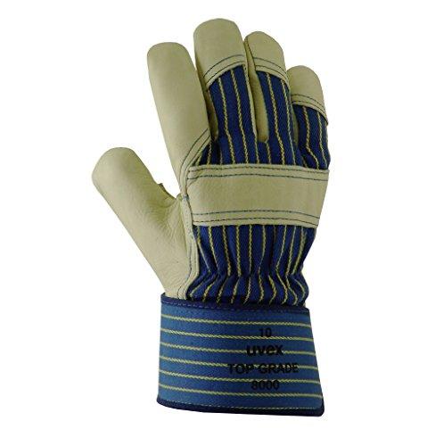 Uvex profas Cuir de Vachette Pleine Fleur Gant de Protection Haut Grade 8000 - Bleu/Gris, 9