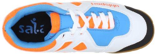 Uhlsport Leon Senior 100830801 Unisex - Scarpe Sportive Per Adulti - Arancione (arancione / Blu Lampo / Bianco 01)