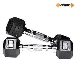 Kore K-DM-Hexa-1kg-Combo 16-N Dumbbells Kit