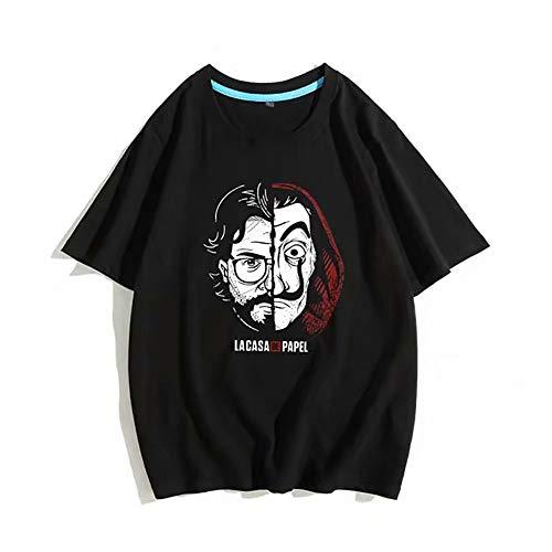 Charakter-jugend-t-shirt (La Casa De Papel Unisex Mädchen Jungen T-Shirt Lustige Jugend Tees T-Shirt Hombre Kurzarm Casual Streetwear Harajuku Lustige T-Shirts)