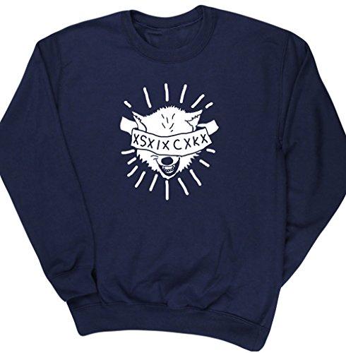 HippoWarehouse WOLF SICK jersey sudadera suéter derportiva unisex
