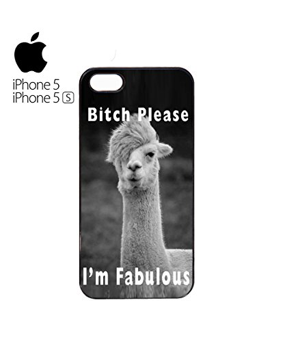 I'm Fabulous B*tch Please Llama Cool Funny Mobile Phone Case Cover iPhone 5&5s Black Blanc