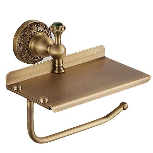 MTX Ltd Doppelter Toilettenpapierhalter aus Messing, Duschraum, mit Gestell aus Gebürsteter Bronze