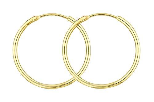 elbgold 585/14 K, Außendurchmesser 25 mm, Breite 1.5 mm, Gewicht ca. 0.9 g, NEU ()