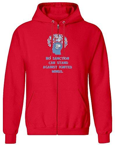 No Sanction Zipper Hoodie for Men - 100% Soft Cotton - High Quality DTG Printing - Custom Printed Mens Clothing