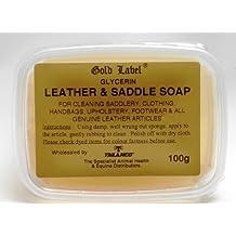 Gold Label Saddle Soap - Jabón de glicerina para limpiar monturas, ropa, bolsos, tapizados, zapatos y otros productos de piel.