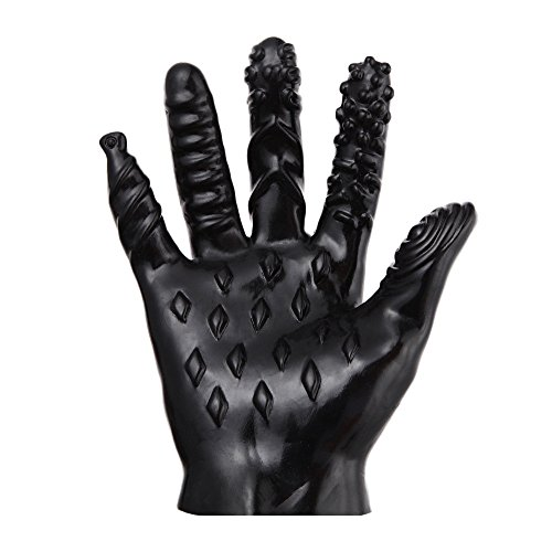 tohole Flirting Massage vibrierende sexy Handschuhe Vibratoren 5 Finger mit Verschiedenen erhöhten und Gerippten Designs Adult Sexspielzeug Dildo Massager Massagegerät Bequem ()