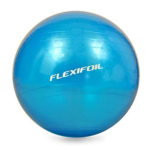 Flexifoil Tallas–Pelota de ejercicios (55cm/65cm/75cm)–Super denso estructura de pared para Ultimate Support y durabilidad. Top Estimada para Yoga y Pilates. Ideal para Core estabilidad & Cuerpo acondicionado, AB entrenamientos & Terapia en casa o en el gimnasio