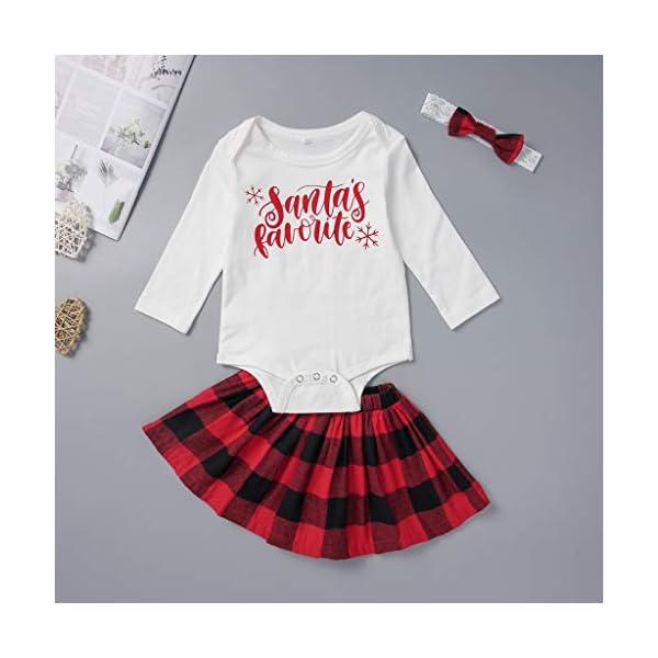 Abrigo cálido de inviernoConjunto de Trajes de Navidad de Falda de Cuadros de Navidad para niñas recién Nacidas 2