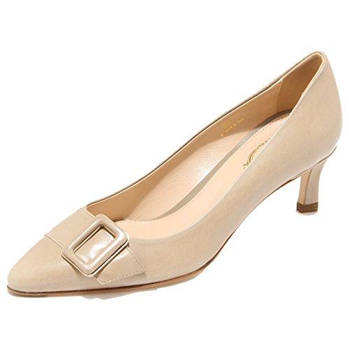 9278I decollete donna TOD'S fondo cuoio scarpe shoes women Beige