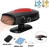 HANXIN Riscaldatore d'auto ventilatore per auto scaldabagno auto 12v, Ventilatore portatile da 150 W in auto, bene chiaro per lo schermo frontale