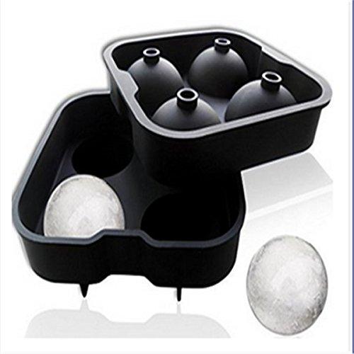 form, aus Silikon, Durchmesser 4 x 4,5 cm, 4 cm, 4 Stück, Schwarz ()