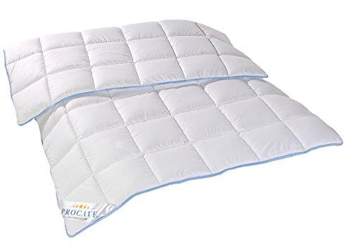 PROCAVE | TopCool Qualitäts-Bettdecke für das ganze Jahr | Entspannt schlafen - absorbiert Körperfeuchtigkeit | Atmungsaktive Steppdecke in weiß in 135x200 cm | Soft-Komfort Bettdecken | kochfest | Made in Germany