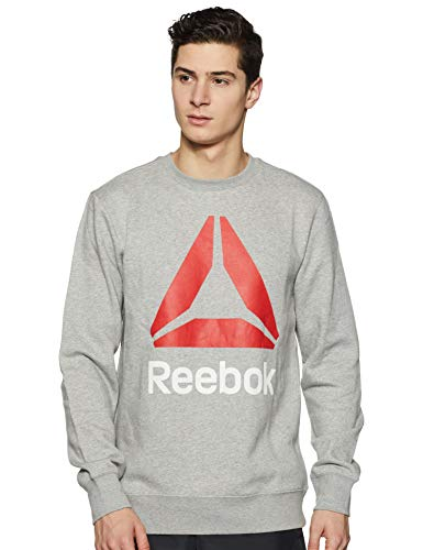 Reebok Men's Sweatshirt (MS Store Staff Sweat-NFH_Mgreyh_L)