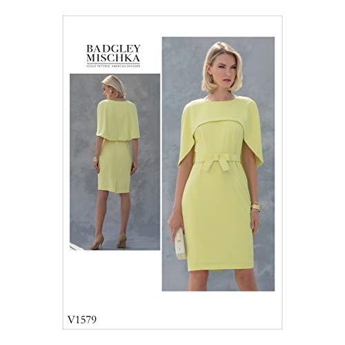 Vogue Patterns 1579 E5 Patron de Robe de Petite, Tailles 14–22, Soie, Multicolore, 20 x 0.5 x 25 cm