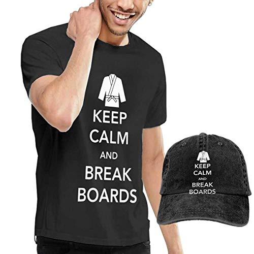 Kostüm Break Spring - Baostic Herren Kurzarmshirt Keep Calm and Break Boards Fashion Men's T-Shirt and Hats Youth & Adult T-Shirts