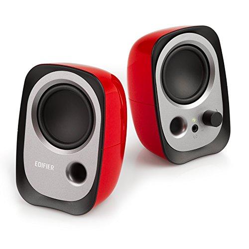 Edifier R12U RD USB-Lautsprecherset (Bassreflex-Port, Kopfhöreranschluss, integrierter Lautstärkeregler) rot