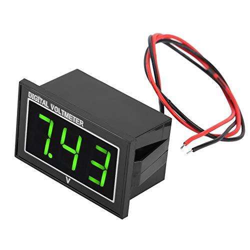Voltmetro Digitale, Akozon Voltmetro Amperometro Digitale CC 0,56' Display LED Pannello di Voltaggio per Voltmetro CC Digitale ad Alta Precisione(DC5-130V-Verde)