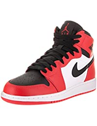 Nike Youth Air Jordan 1 Retro High Leather Trainers