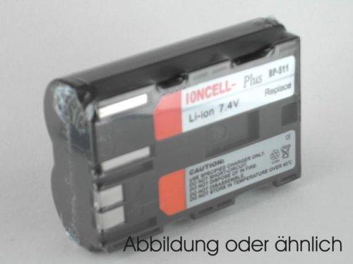 Akku für Canon EOS 300D passgenau, LiIon, Li-Ion, Lithium-Ionen, Accu, Ersatzaccu, Ersatzakku, Ersatz-Akku, Kamera